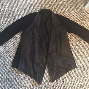 Black Suede And Leather Jacket L like all saints